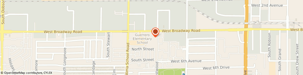 Route/map/directions to Auto Solutions, 85210 Mesa, 1029 WEST BROADWAY ROAD