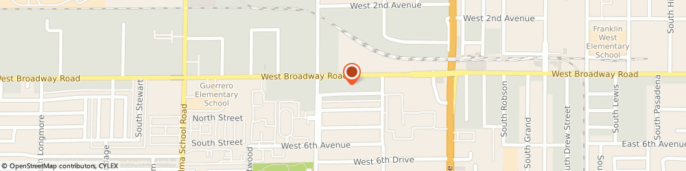 Route/map/directions to Martin Marine, 85210 Mesa, 715 WEST BROADWAY ROAD