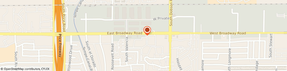 Route/map/directions to Aimee's Divine Shine, 85202 Mesa, 2145 West Broadway Road
