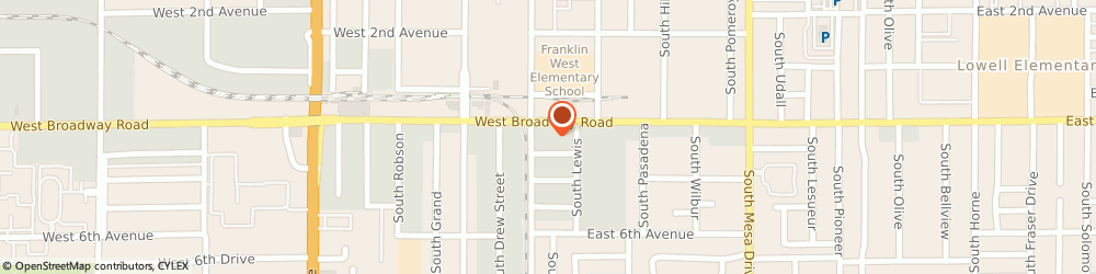 Route/map/directions to Southwest Charter Lines, 85210 Mesa, 19 EAST BROADWAY ROAD