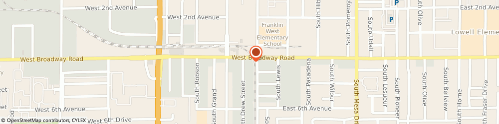 Route/map/directions to Budget Car And Truck Rental, 85210 Mesa, 33 WEST BROADWAY ROAD