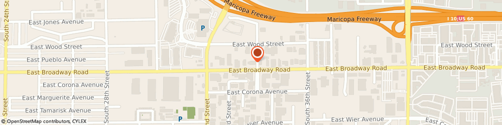 Route/map/directions to Creative Airtime Services, 85040 Phoenix, 3332 EAST BROADWAY ROAD