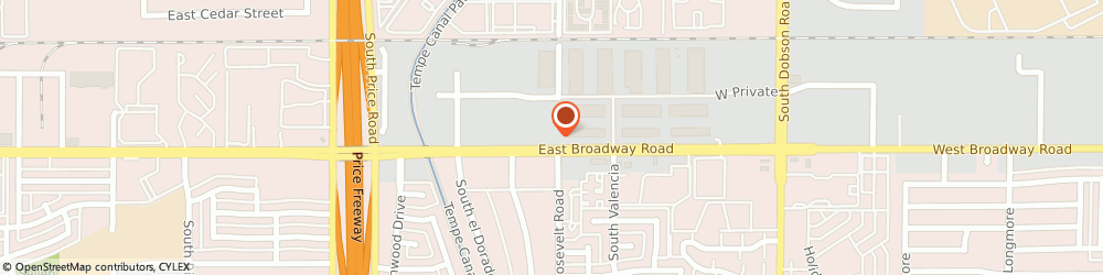 Route/map/directions to Maverick Glass, 85202 Mesa, 2400 WEST BROADWAY ROAD