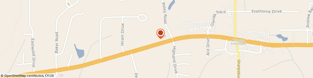 Route/map/directions to FASTSIGNS® of Newnan, GA, 30265 Newnan, 2710 East Highway 34