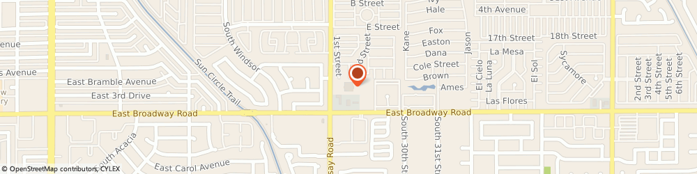 Route/map/directions to United States Postal Service, 85204 Mesa, 325 S Lindsay Rd