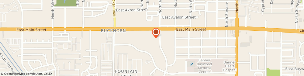 Route/map/directions to Fraternal Order Of Eagles - East Mesa #4508, 85205 Mesa, 6209 E Main St