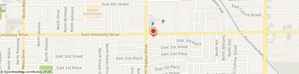 Route/map/directions to Texaco, 85203 Mesa, 357 N Stapley Drive
