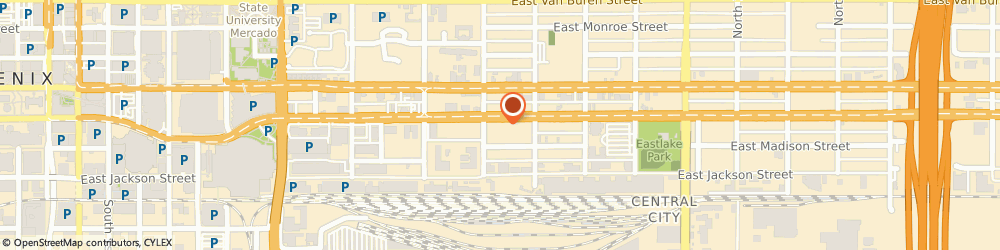 Route/map/directions to V Digital Services, 85034 Phoenix, 1201 East Jefferson Street