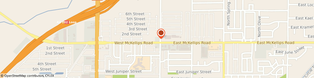 Route/map/directions to Texaco Self Service, 85201 Mesa, 16 WEST MCKELLIPS ROAD