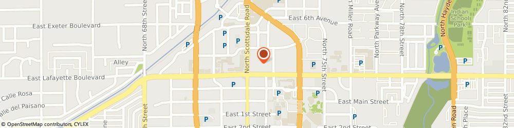 Route/map/directions to Great Western Bank, 85251 Scottsdale, 4141 N Scottsdale Rd