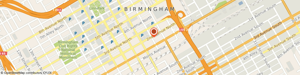 Route/map/directions to Alabama Title Co Incorporated, 35203 Birmingham, 2233 2ND AVENUE NORTH