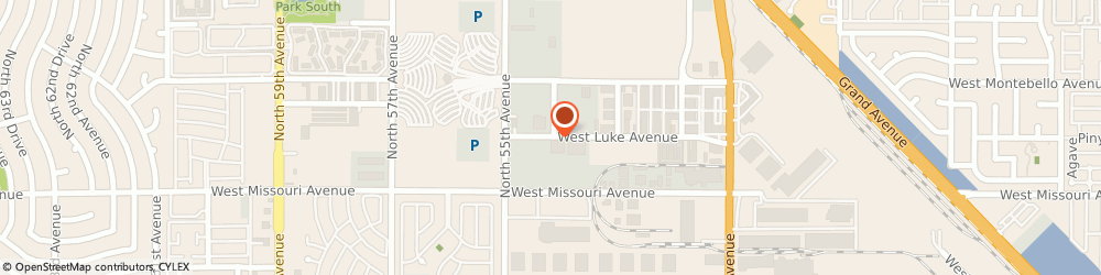 Route/map/directions to Presto Casting, 85301 Glendale, 5401 WEST LUKE AVENUE