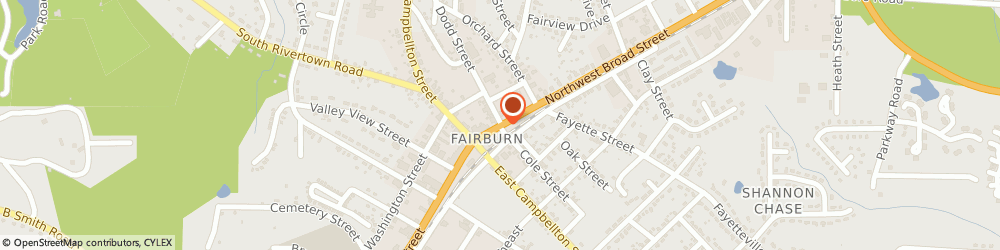 Route/map/directions to Bp Station, 30213 Fairburn, 38 SW BROAD ST