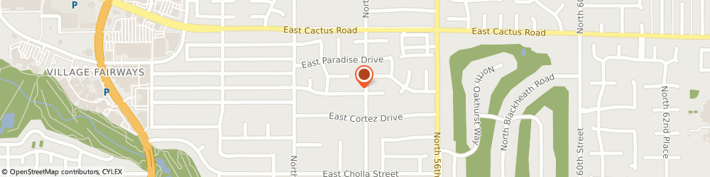 Route/map/directions to Kaplan Communications, 85003 Phoenix, 5350 EAST POINSETTIA DRIVE