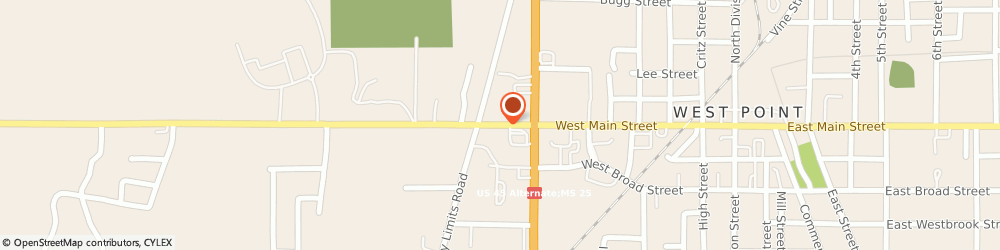 Route/map/directions to U-Haul Co., 39773 West Point, 758 W MAIN ST