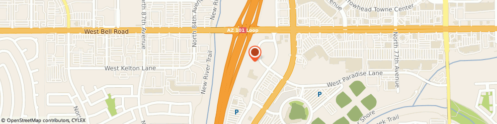 Route/map/directions to Residence Inn by Marriott Phoenix Glendale/Peoria, 85382 Peoria, 8435 West Paradise Lane