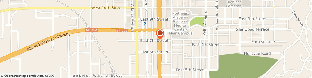 Route/map/directions to Foot-Locker Store, 36203 Oxford, 700 Quintard Drive