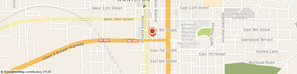 Route/map/directions to BBVA Bank - Ashley Kendrick, 36201 Anniston, 801 Noble St