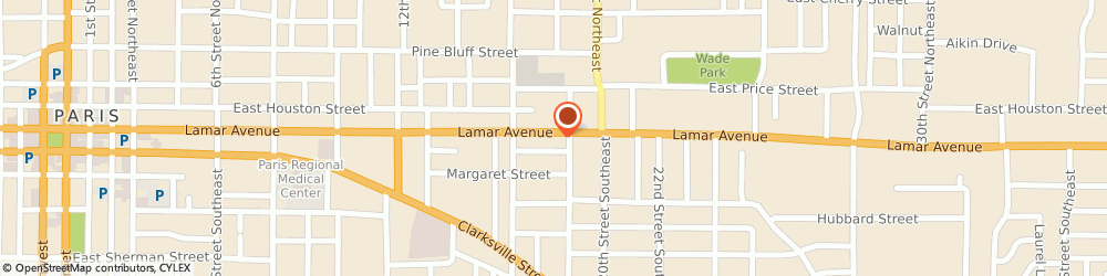 Route/map/directions to Domino's Pizza, 75460-1415 Paris, 1828 Lamar Ave
