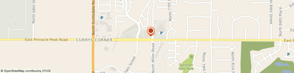 Route/map/directions to American Express Financial Advisors Incorporated, 85255 Scottsdale, 7500 EAST PINNACLE PEAK ROAD