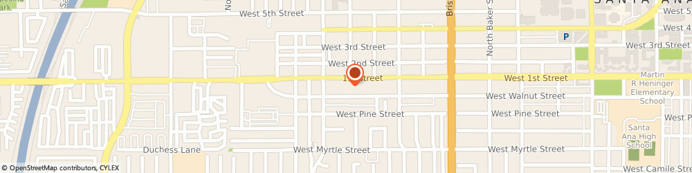 Route/map/directions to Precision Audio, 92703 Santa Ana, 1706 WEST 1ST STREET SUITE A