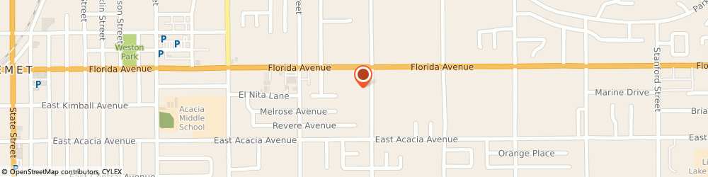 Route/map/directions to Farmers Insurance - James Mitchell, 92544 Hemet, 1963 E Florida Ave