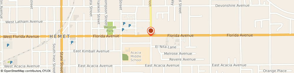 Route/map/directions to BZ Beez Tax & Insurance Services, 92543 Hemet, 1249 E Florida Ave