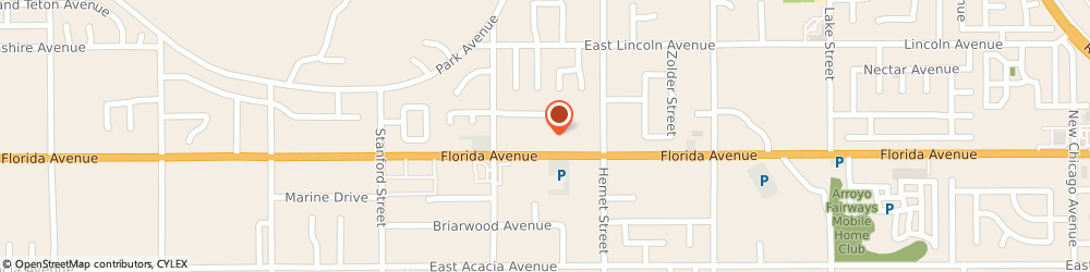 Route/map/directions to Rage Salon & Shoe Boutique, 92544 Hemet, 4260 E Florida Ave