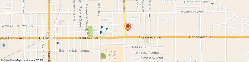 Route/map/directions to Authority Real Estate, 92543 Hemet, 140 N San Jacinto St