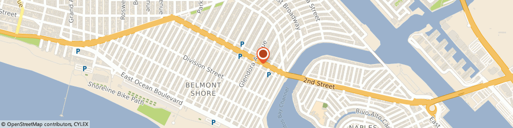 Route/map/directions to Beach On 2nd Street, 90803 Long Beach, 5308 E 2nd St # A