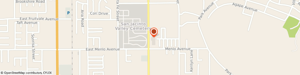 Route/map/directions to Main Street Realty, 92583 San Jacinto, 2537 S San Jacinto Ave