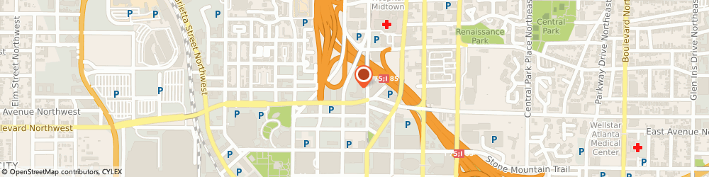 Route/map/directions to Prolific Garage Doors, 30308 Atlanta, 400 W Peachtree St NW