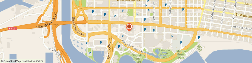 Route/map/directions to SP+ Parking, 90802 Long Beach, 40 South Cedar Walk