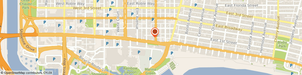 Route/map/directions to SP+ Parking, 90802 Long Beach, 555 E.Ocean Blvd