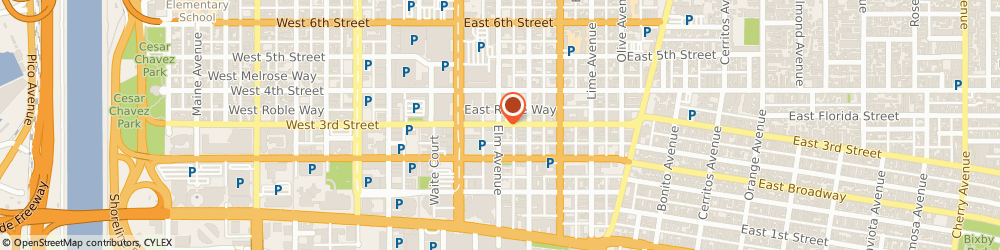 Route/map/directions to Aat Communications, 90802 Long Beach, 402 EAST 3RD STREET