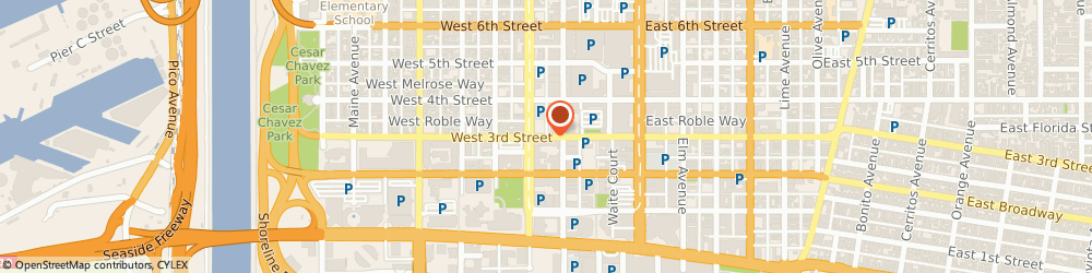Route/map/directions to The Pacific Apartments, 90802 Long Beach, 230 W. 3rd Street