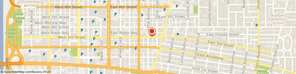Route/map/directions to P3 Office Lofts, 90802 Long Beach, 120 East 3rd Street