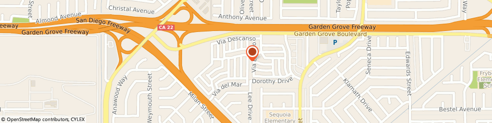 Route/map/directions to Village Rv Park, 92683 Westminster, 5880 GARDEN GROVE BOULEVARD