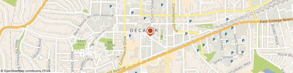 Route/map/directions to FASTSIGNS, DECATUR, 30030 Decatur, 131 E. Trinity Pl