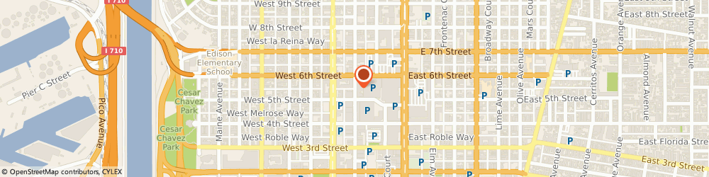 Route/map/directions to The Loft on Pine, 90802 Long Beach, 230 Pine Avenue