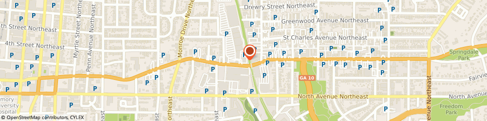 Route/map/directions to Nationwide Insurance, 30308 Atlanta, 650 PONCE DE LEON