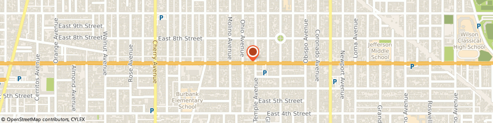 Route/map/directions to Best Nails, 90804 Long Beach, 2709 EAST 7TH STREET