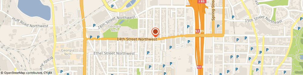 Route/map/directions to BP, 30318 Atlanta, 329 14th Street Northwest