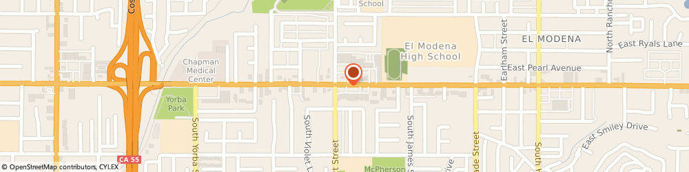 Route/map/directions to Family Dollar Store, 92869 Orange, 3400 E CHAPMAN AVE