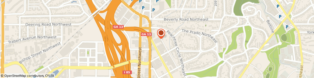 Route/map/directions to State Farm Insurance, Cleo Meyer, 30309 Atlanta, 1447 Peachtree St Ne