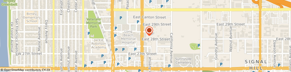 Route/map/directions to SP+ Parking, 90806 Long Beach, 701 E. 28th Street