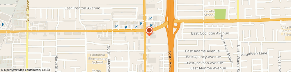 Route/map/directions to Cannon Mail Boxes &, 92867 Orange, 1233 NORTH TUSTIN STREET