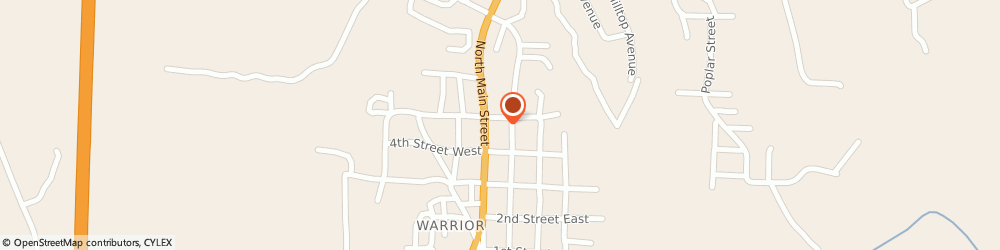 Route/map/directions to Domino's Pizza, 35180-1340 Warrior, 110 5th St E