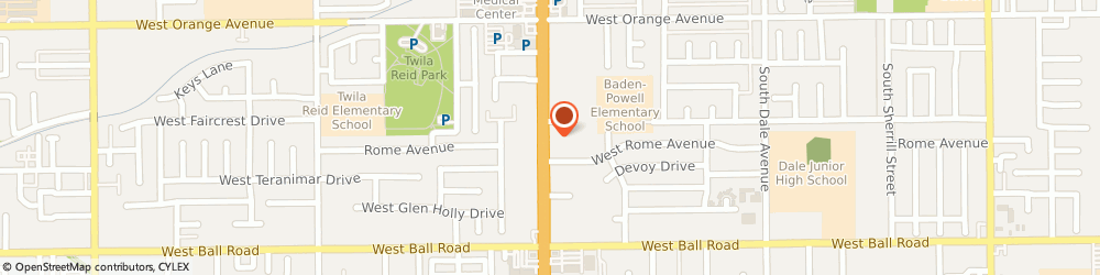 Route/map/directions to Ramada Limited, 92804 Anaheim, 800 South Beach Blvd I5