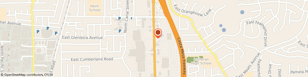 Route/map/directions to eTax Services, 92865 Orange, 1858 North Tustin Street